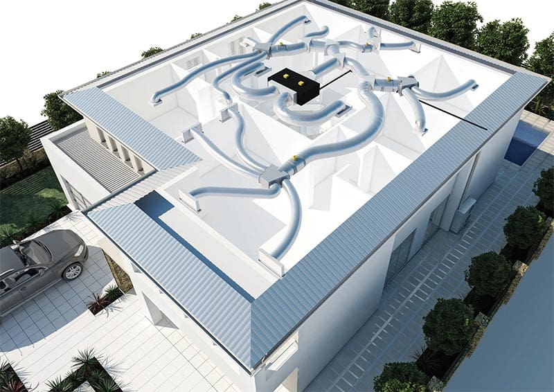 Air Duct System : Domestic air conditioning perth residential